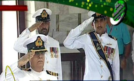 Mazar-e-Quaid change of guard ceremony on 14 August 2013