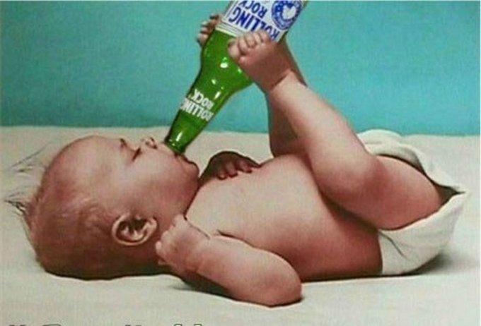 baby drinking funny pictures