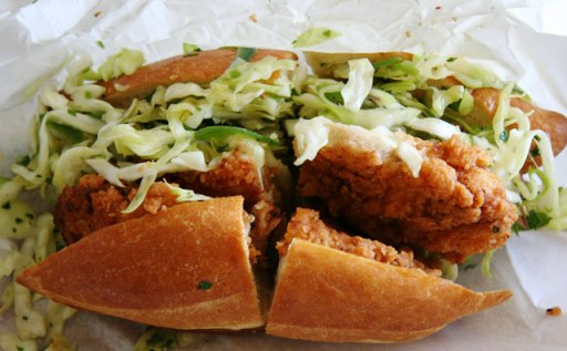 Fried Chicken Sandwiches with Cole Slaw