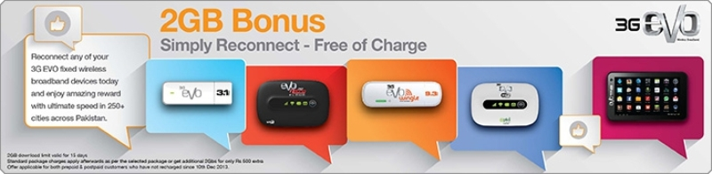 PTCL Offered   EVO reconnect offer and enjoy 2GB Internet
