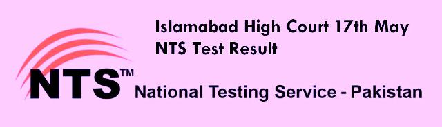 online Islamabad High court 17th May test result