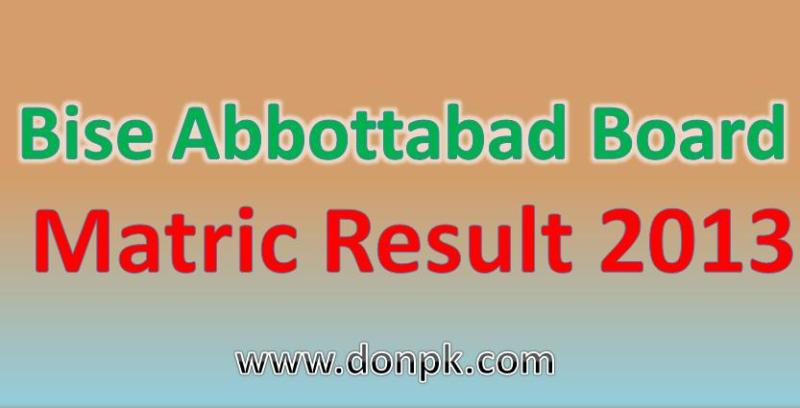 online Abbottabad board matric part 1 and part 2 result 2014