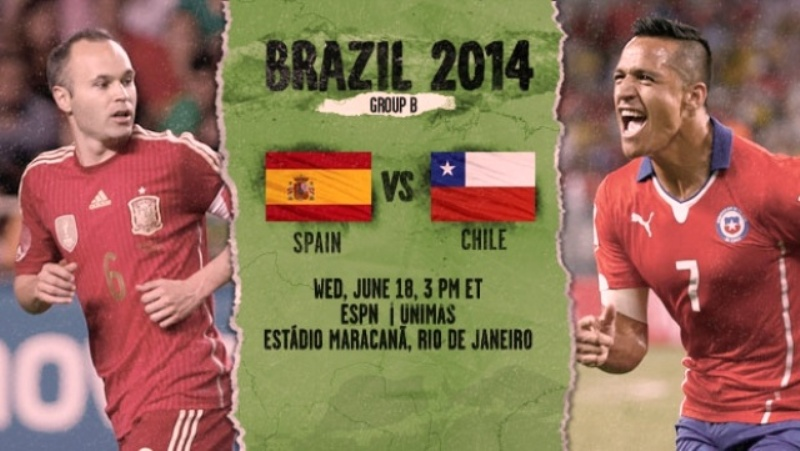 live match fifa world cup 2014 spain vs chili
