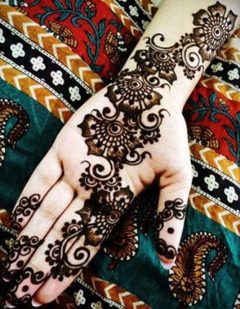 simple mehndi designs step by step