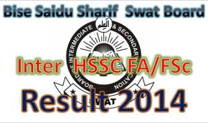 online Swat Board 11th Class result 2014