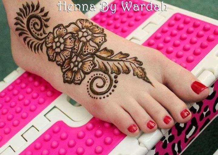 eid mehndi Designs for feet 2017