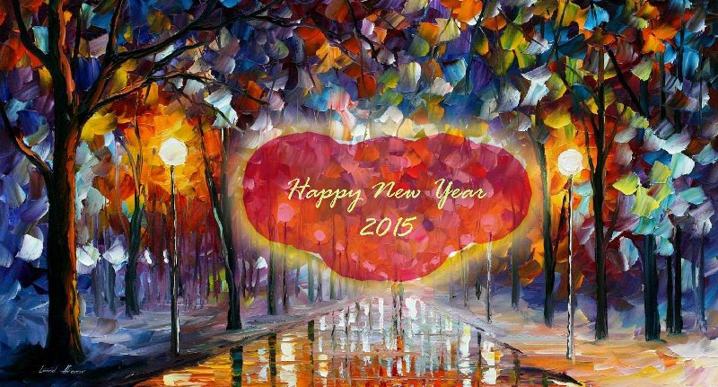 Happy New Year 2015 3D GIF Images Photos