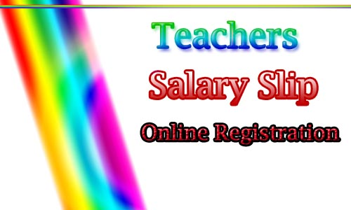 Salary Slips of Teachers online Registration