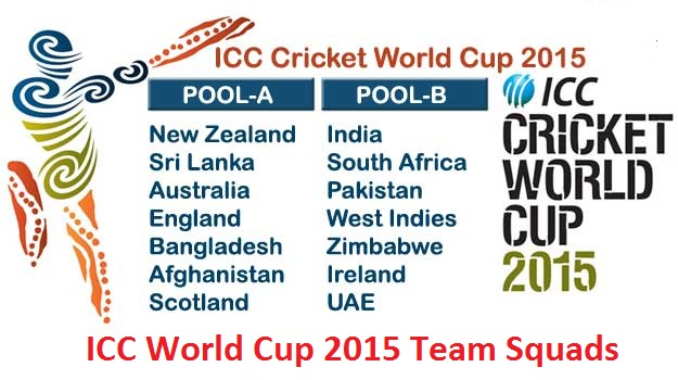 ICC world cup 2015 Squad  team Players
