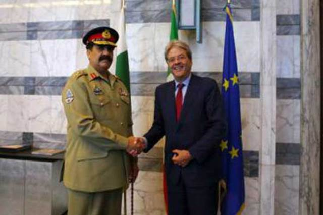 Army Chief Visit to Italian on Security