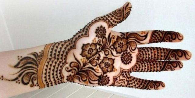 simple arabic mehendi designs
