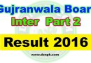 Online Gujranwala board Inter HSSC 2nd year Result 2016