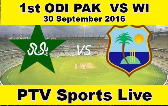 1st ODI: Pakistan v West Indies at Sharjah, Sep 30