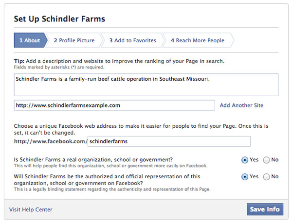 How do you set up your Facebook Page for your family farm? \u2013 The - how to make business profile