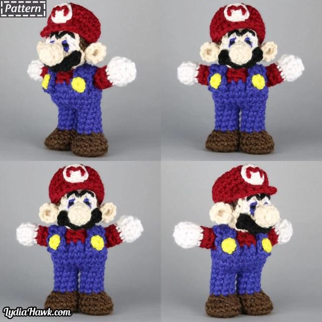 Crochet Mario Bros Doll Lydia Hawk Designs Appalachian Mtns NC
