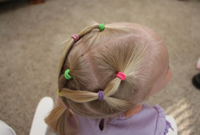 Hair Styles For Little Girls That Actually Stay In! - Multiple ponytails, side view