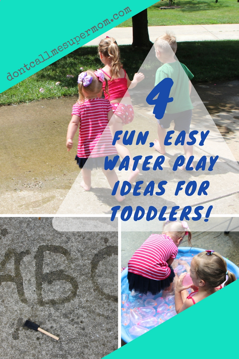 Fun, Easy Water Play Ideas for Toddlers!