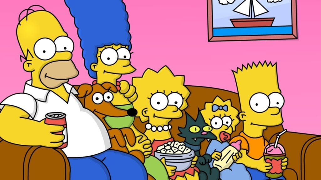 Big Bang Couch Gag Simpsons Parodies Big Bang Theory In 30th Anniversary Couch Gag