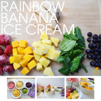 Rainbow Banana Ice Cream