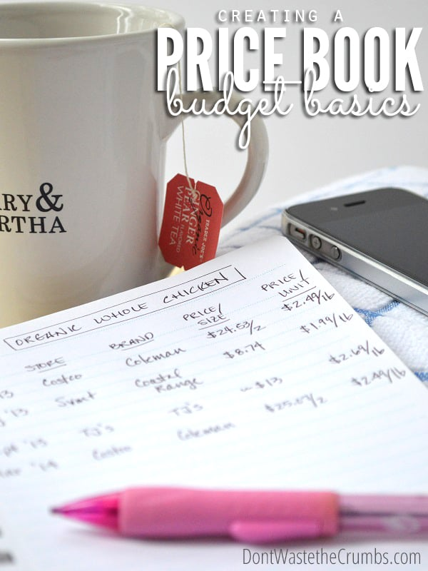 Grocery Budget Basics Creating a Price Book