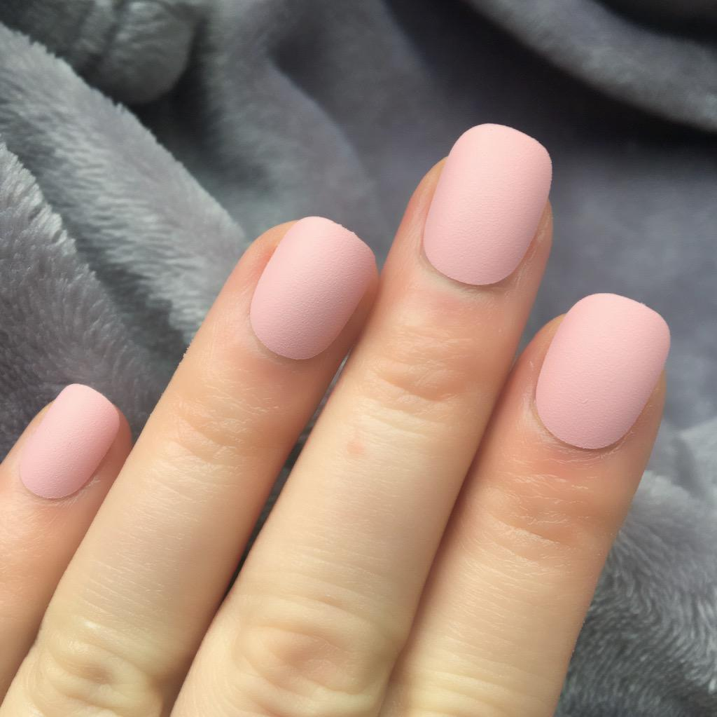 Baby Matte Baby Pink Nails Matte Best Nail Designs 2018