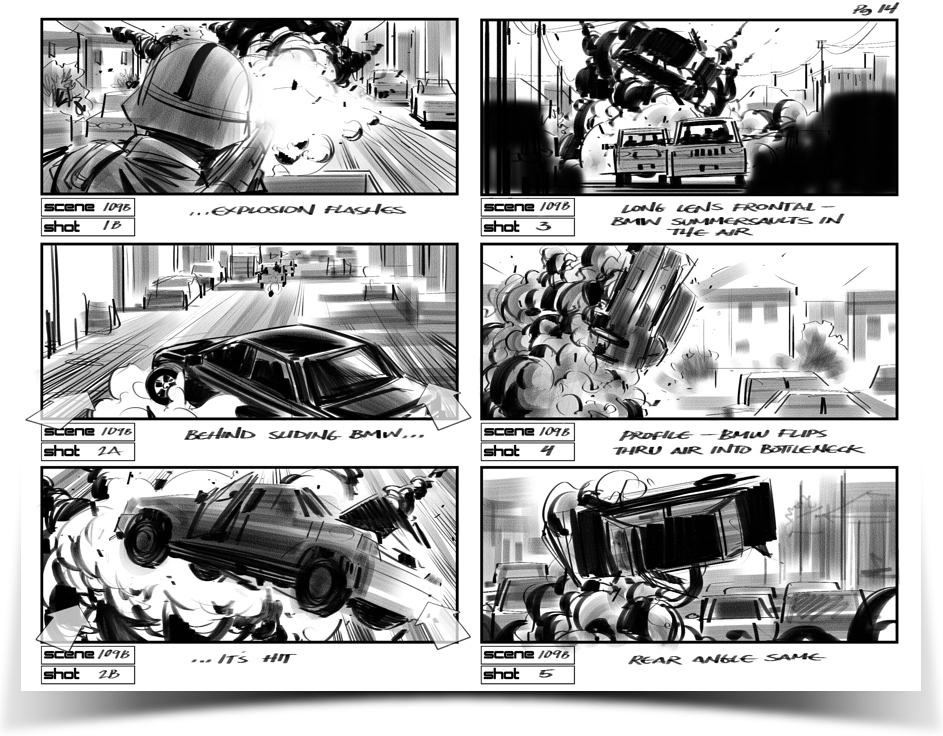 01Sc-103-pg-14-arrows1jpg (943×736) storyboard Pinterest - movie storyboard