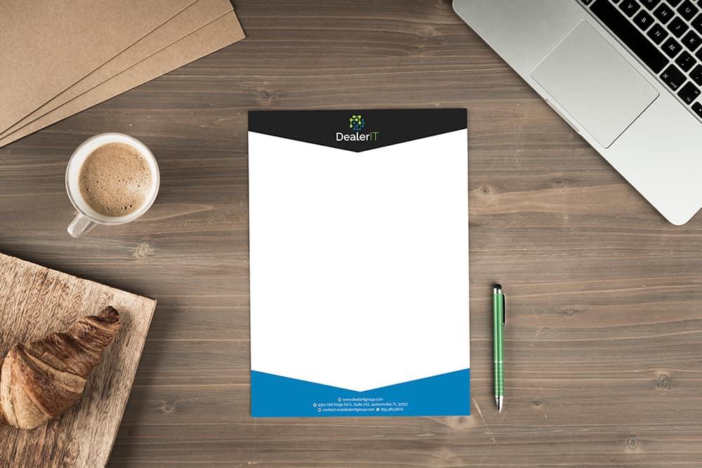 Dealer IT Letterhead Design - Doohickey Creative