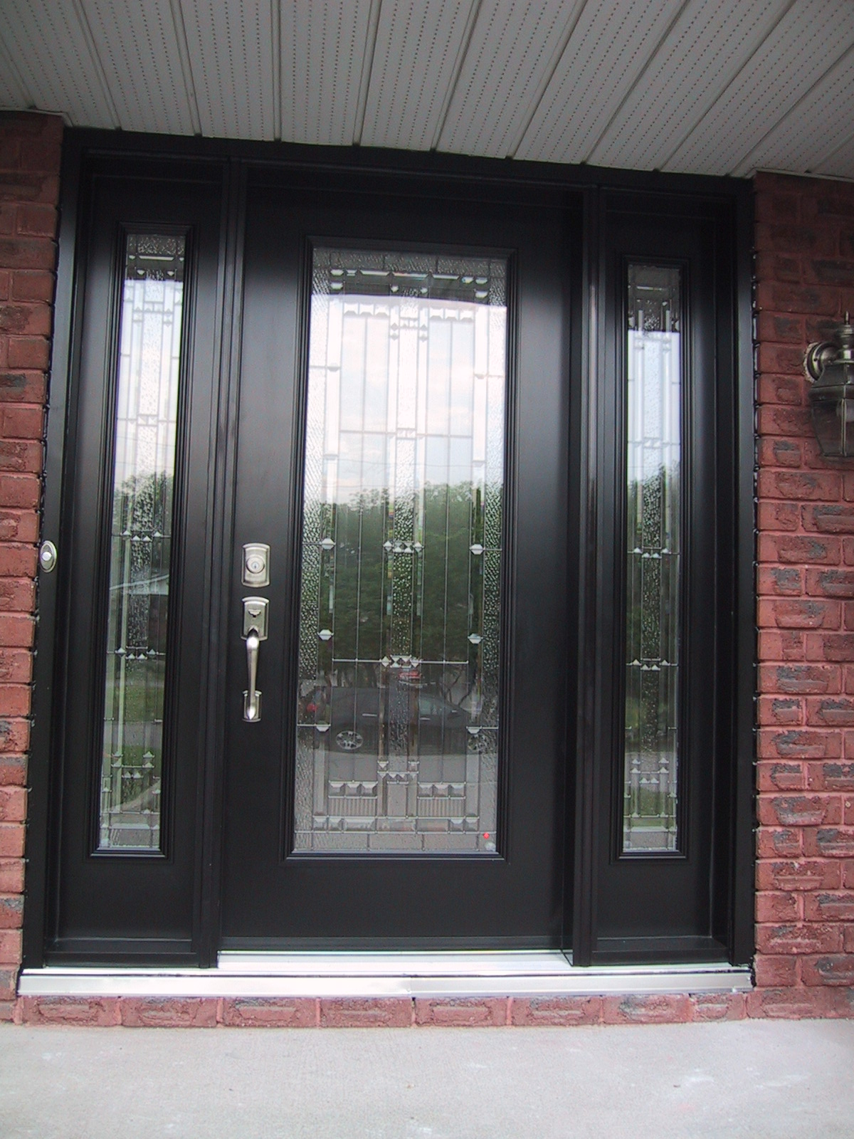 Glass Front Door Decorative Glass Front Entry Doors Are Very Esthetic Interior