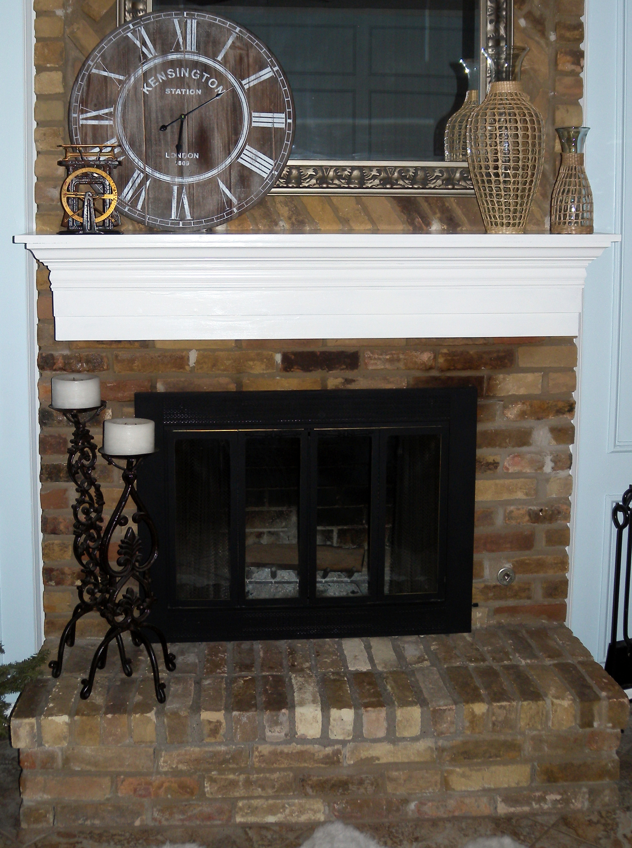 Brick Fireplace Wood Mantel Dear Internet Here S How To Build A Fireplace Mantel Do Or Diy