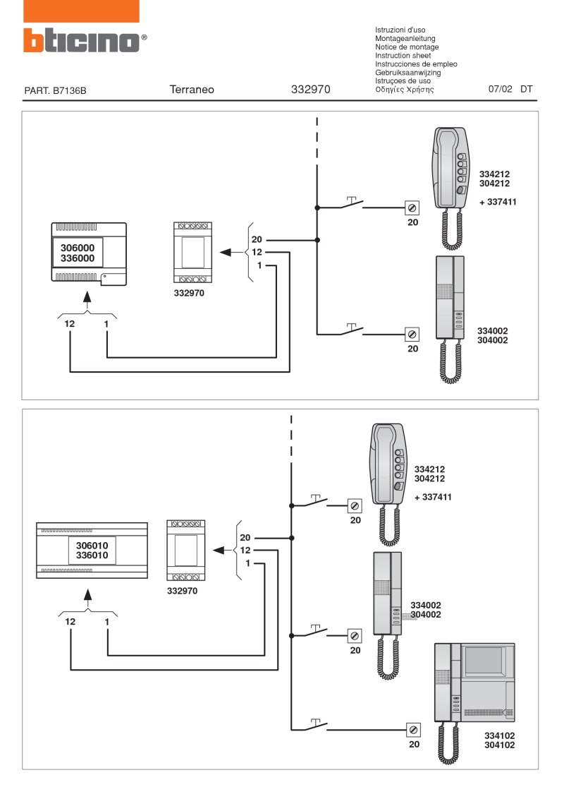bticino wiring devices models