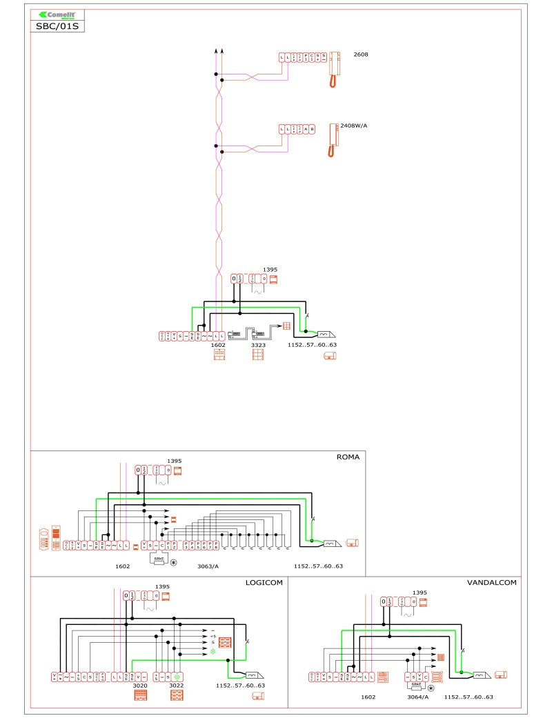 comelit door entry wiring diagram