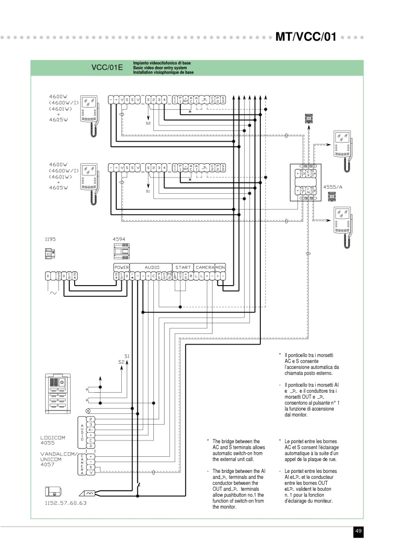 comelit art 1200 wiring diagram