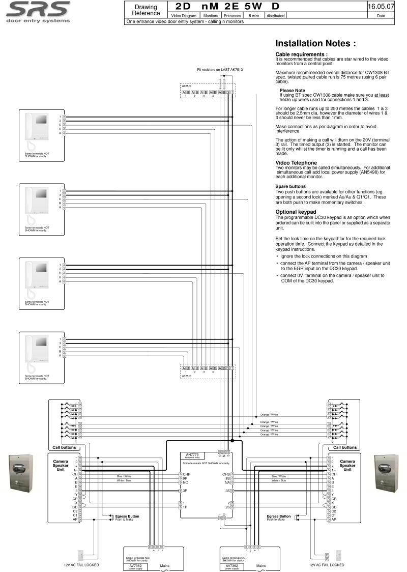 bstl intercom wiring diagram
