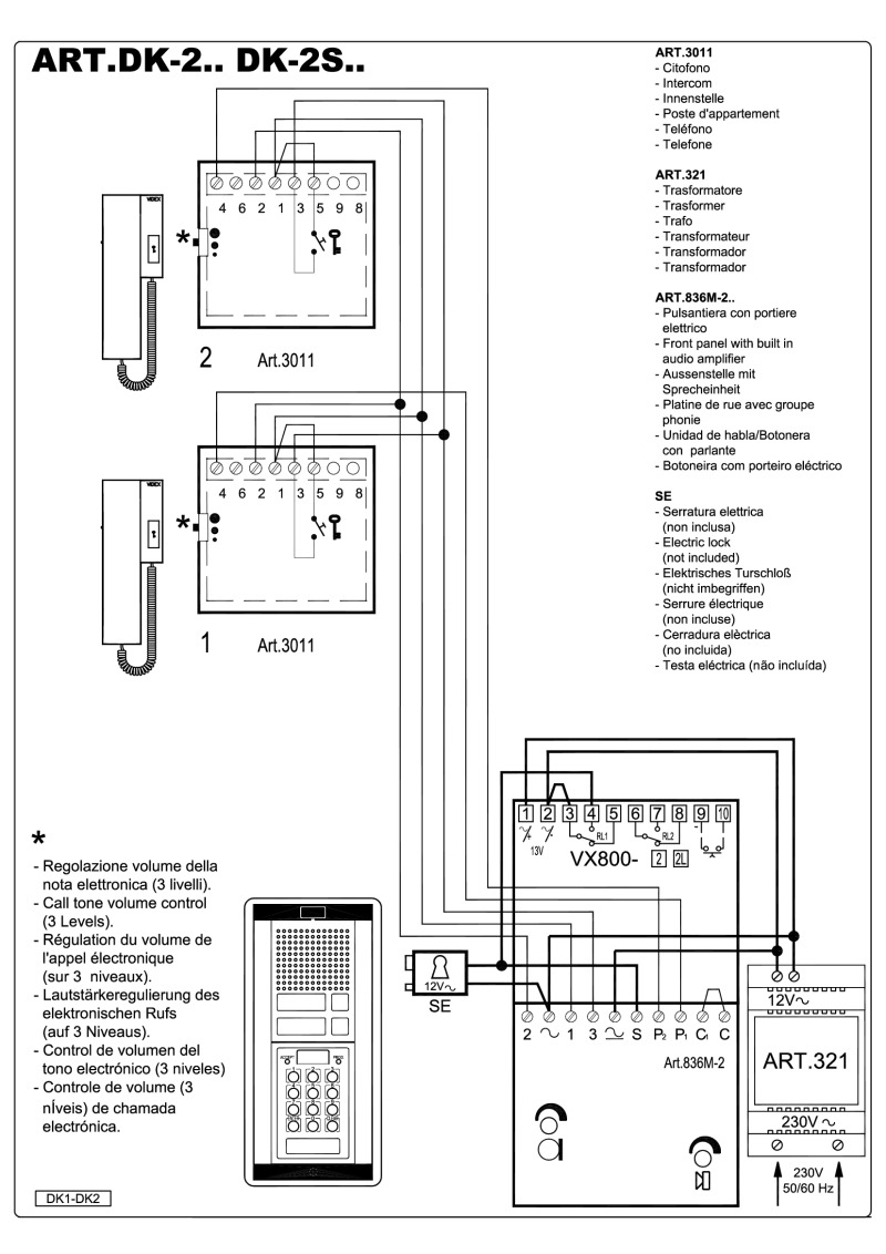 videx art 837 wiring diagram