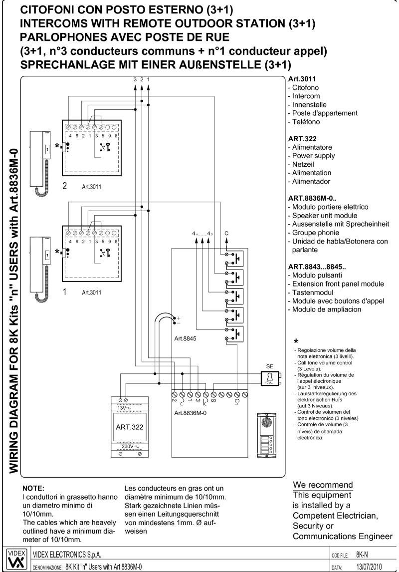 Intercom Wiring Diagram Of Unit 10 Auto Electrical Videx 3011 25 Images