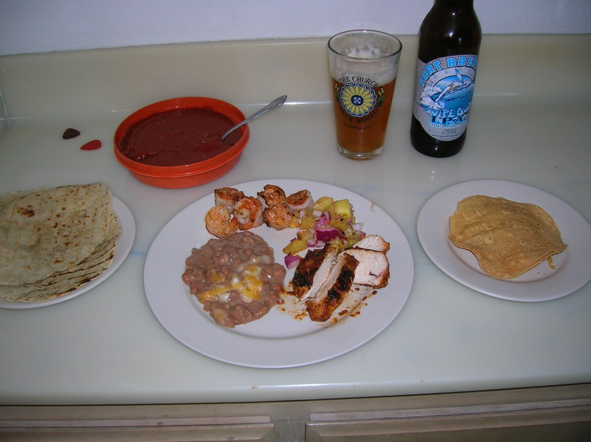 sunday gravy with yeah right: grilled shrimp, chipotle chicken and ...