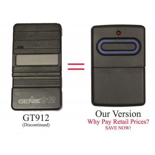 Genie GT912 Compatible Visor Remote Control 9 or 12 dip switch