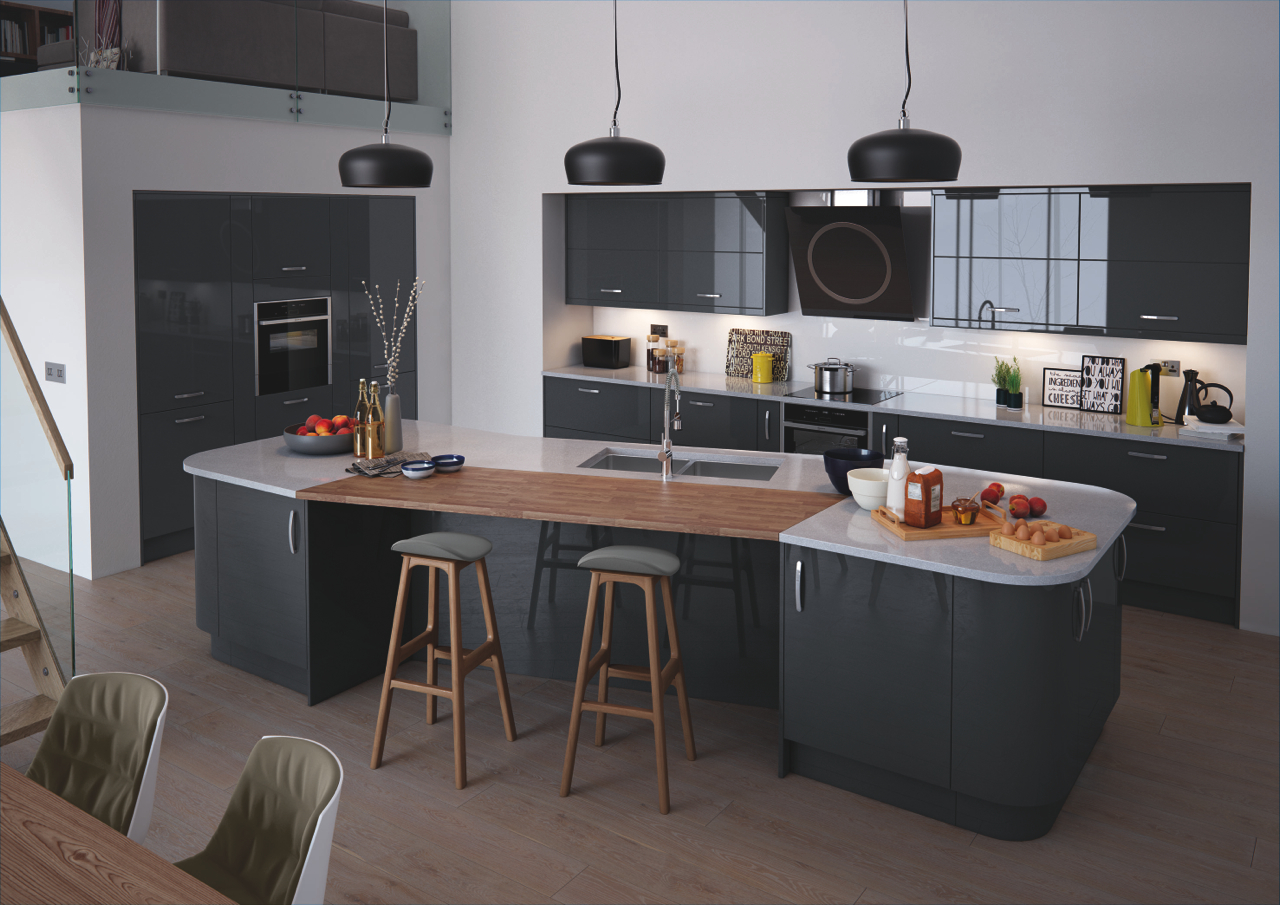 Sims 3 Küche Modern Vivo Anthracite Kitchen Doors Doors And Handles Uk