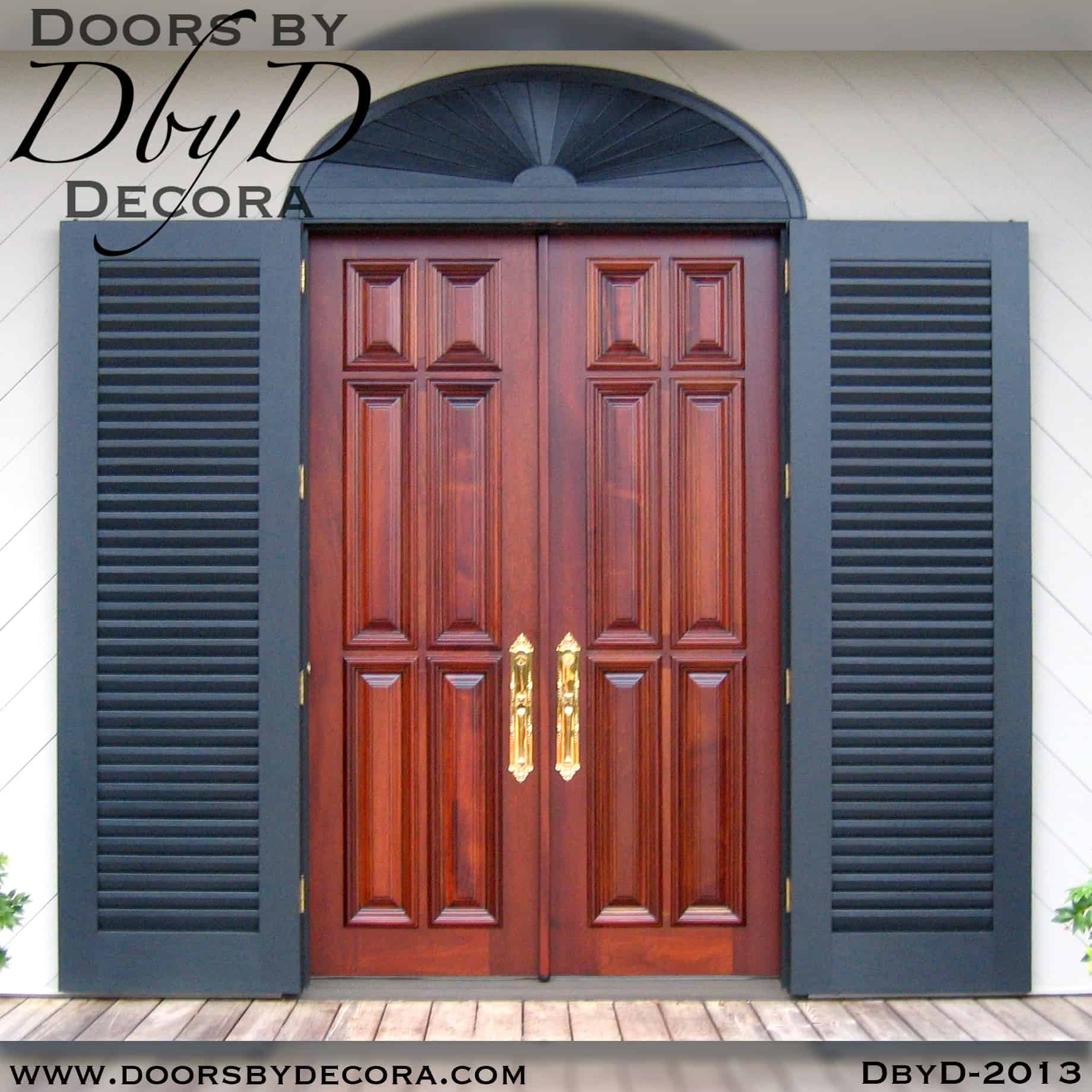 Custom Double Front Doors Made From Solid Wood Doors By Decora