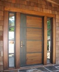 Modern Door With Sidelight