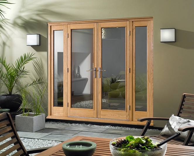 Internal French Doors With Side Panels Design Some