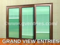 Sliding Door  Sliding Doors With Blinds Inside ...