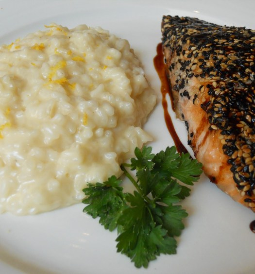 salmão com risoto brown sugar