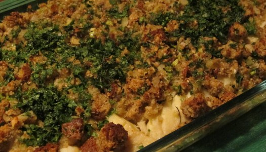 Bacalhau com crosta de Ervas e Castanha de Caju