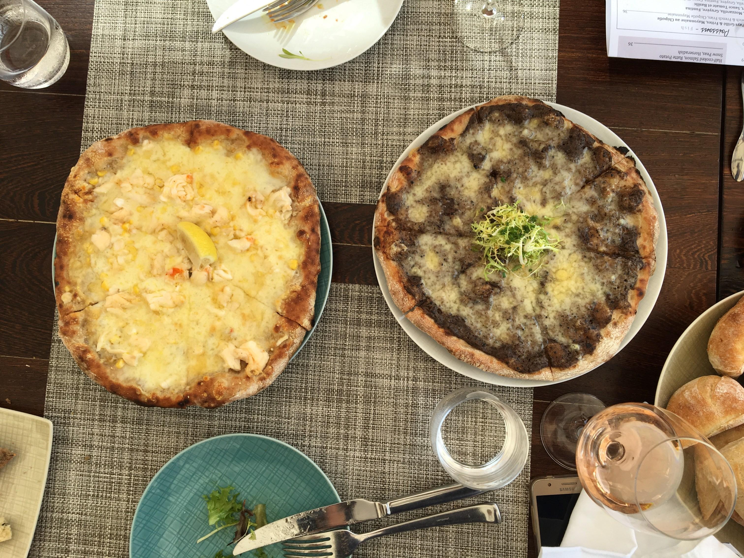 Pizza trufada e de Lagosta