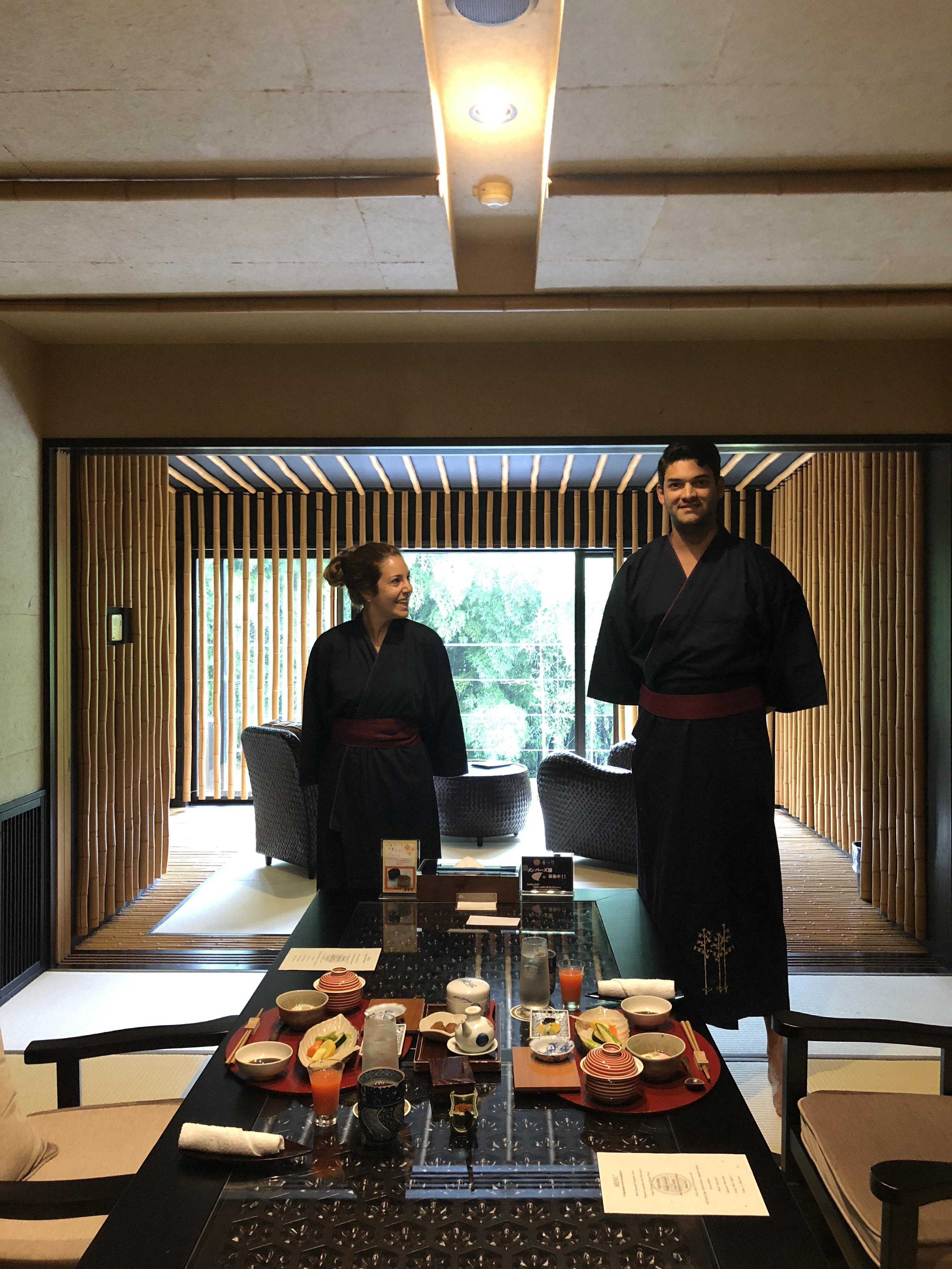 Café da manhã no Ryokan
