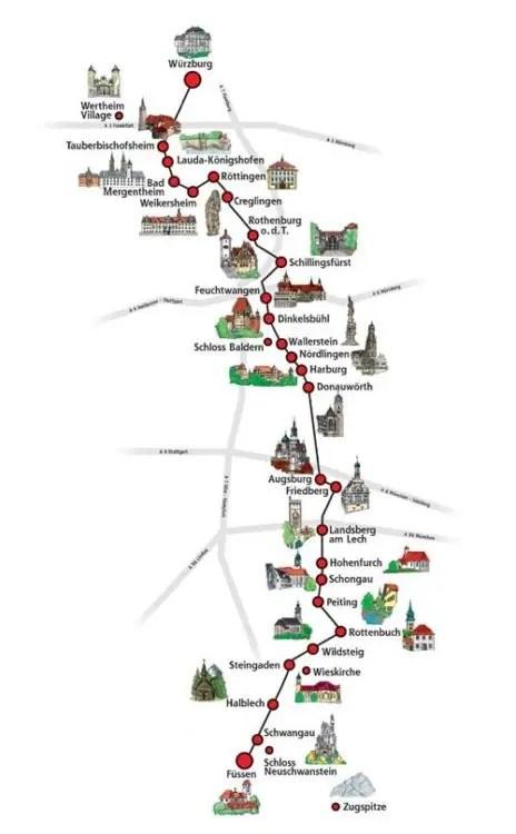 Rota-Romantica-Alemanha-Mapa