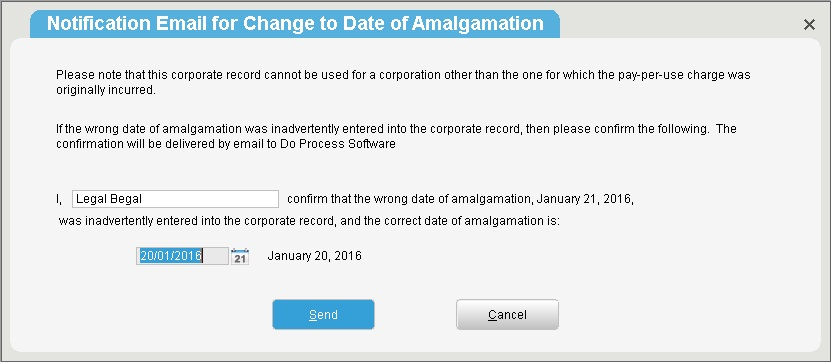 I entered the date of Incorporation/Amalgamation/Articles of - microsoft articles of incorporation