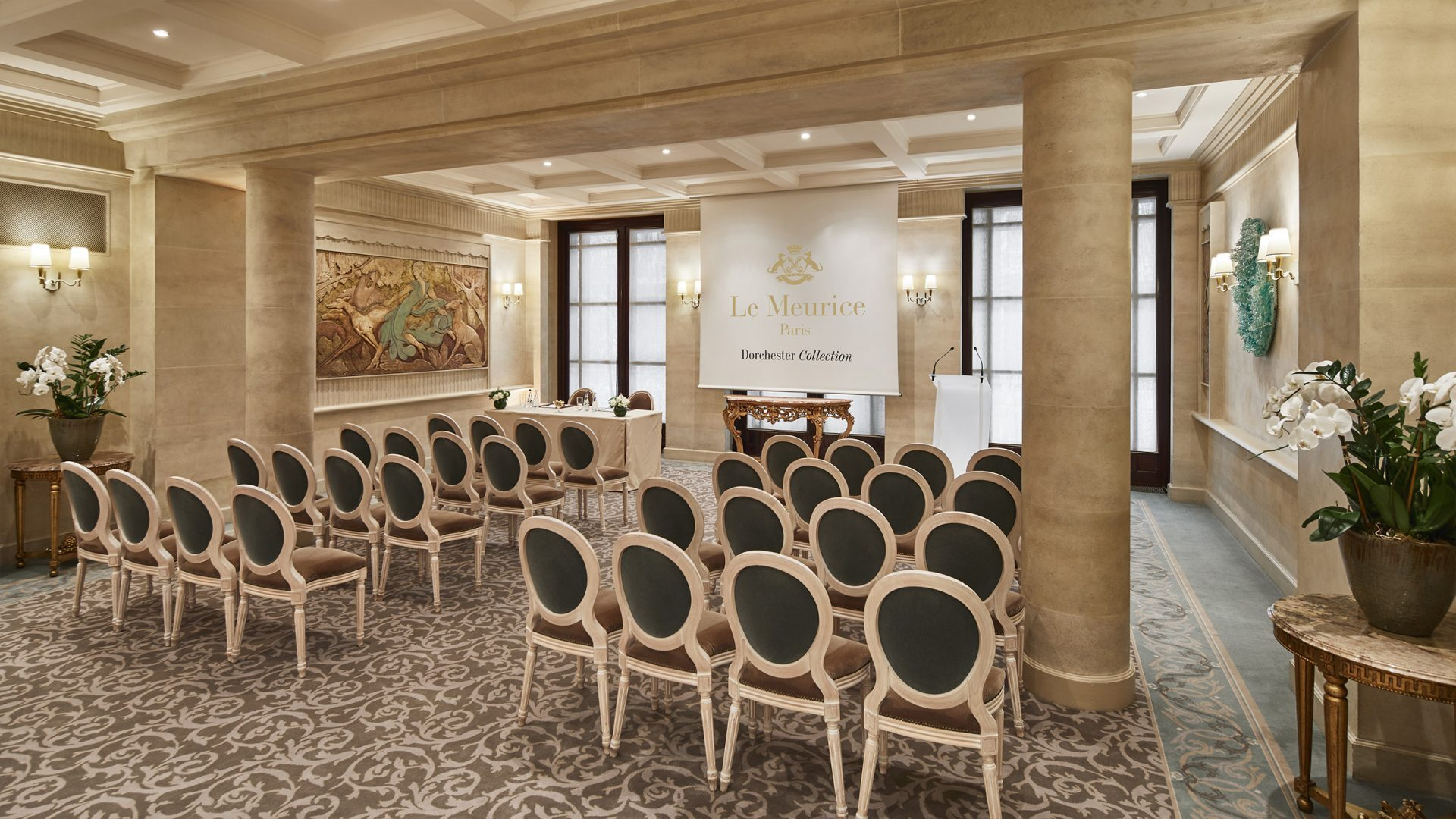 Salon De The A Paris Salon Jeu De Paume Paris Le Meurice Dorchester Collection