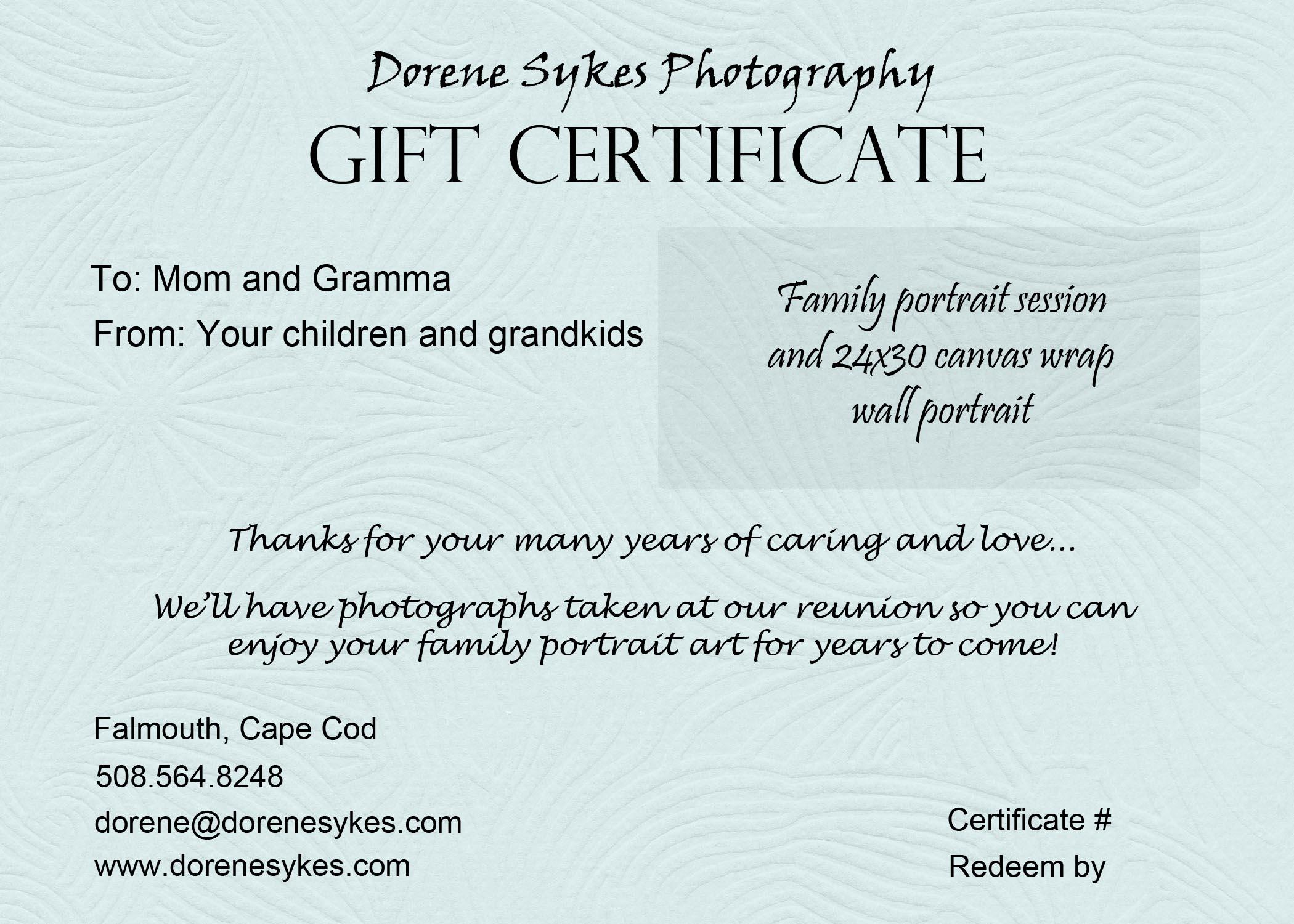 Sample Gift Certificate. Sample Gift Certificate, Sample Gift ...